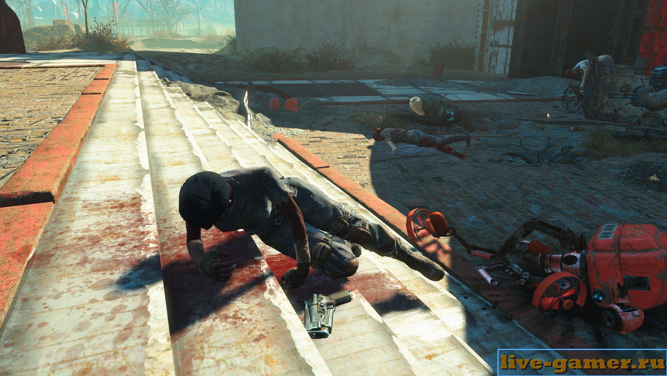 Как убрать трупы в Fallout 4